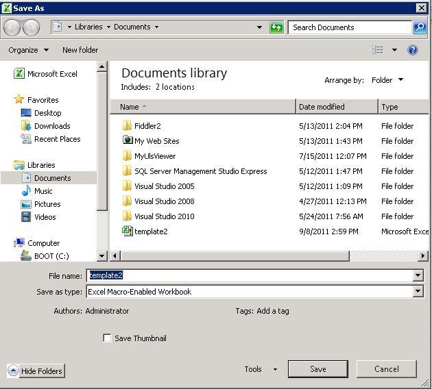 microsoft word macro enabled template - excel macro enabled file type in the file type list